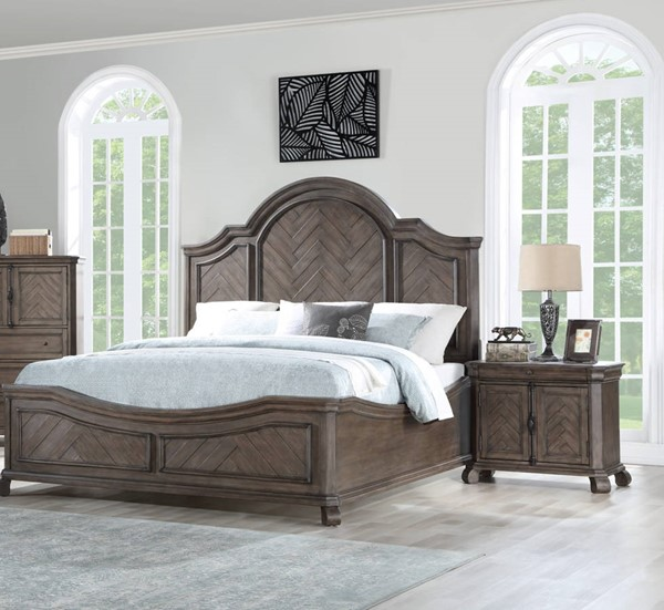 Emerald Home Knoll Hill Brown 2pc Bedroom Sets with King Bed EMR-B553-BR-S2