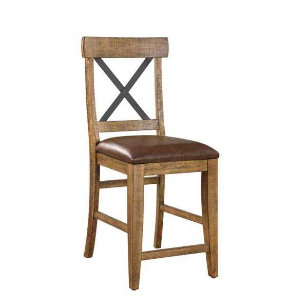 2 Emerald Home Chandler Brown 24 Inch Bar Stools EMR-D100-24-2PK-K