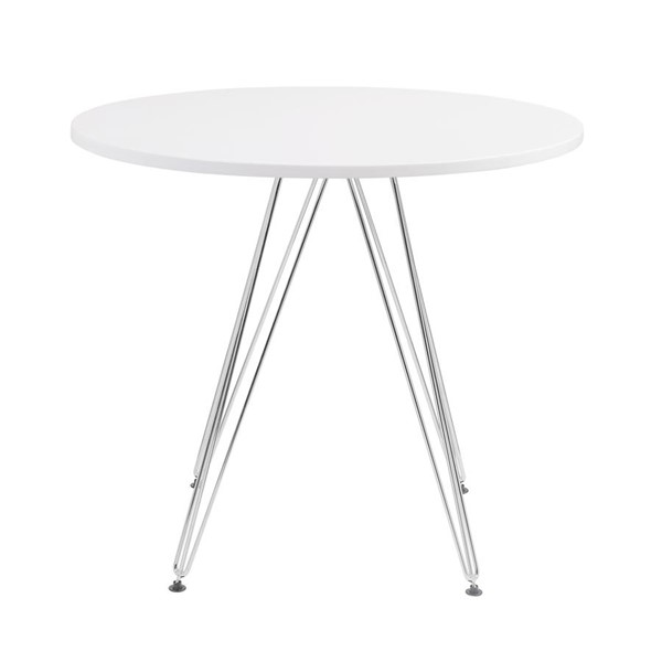 Emerald Home Audrey White Wood 40 Inch Dining Table