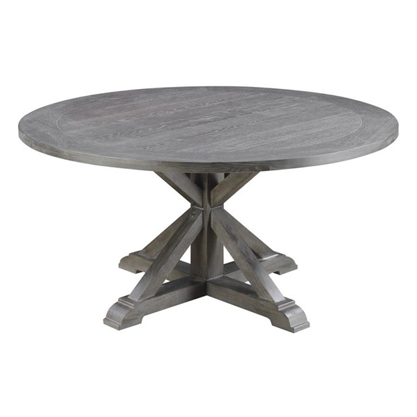 Emerald Home Paladin Charcoal Gray Round Dining Table EMR-D350-12-K