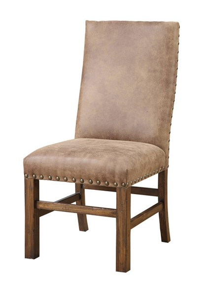 2 Emerald Home Chambers Creek Brown Upholstered Dining Chairs EMR-D412-20-2PK-K