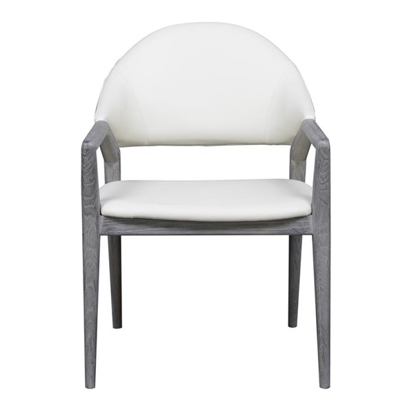 Emerald Home Carrera Gray White Modern Dining Arm Chair EMR-D905-23