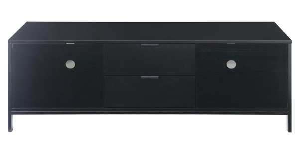 Emerald Home Modern Home Black 2 Drawers TV Stand EMR-E5140BLK