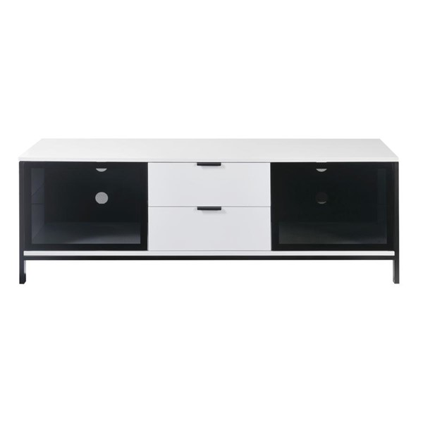 Emerald Home Modern Home White 2 Drawers TV Stand EMR-E5140WHT