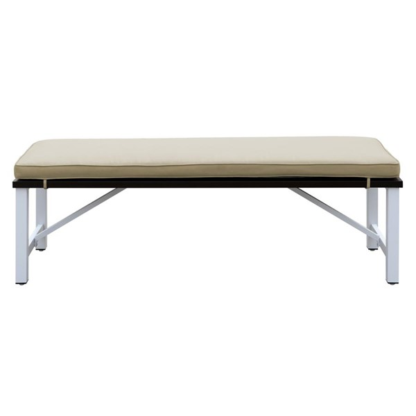 Emerald Home Mountain Side White Beige Outdoor Bench EMR-OD1090-36-05