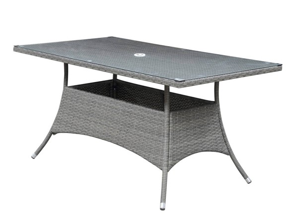 Emerald Home Ridgemonte Gray Outdoor Dining Table EMR-OD1104-10