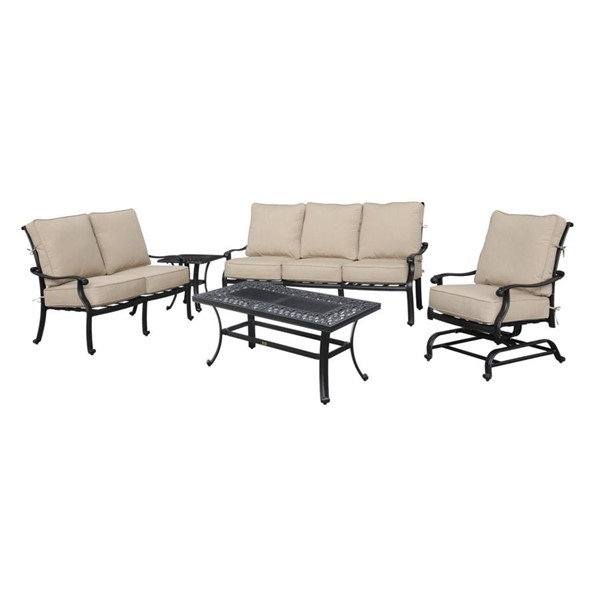 Emerald Home Versailles Beige Onyx 3pc Outdoor Seating Set EMR-OU1045-LR-S1