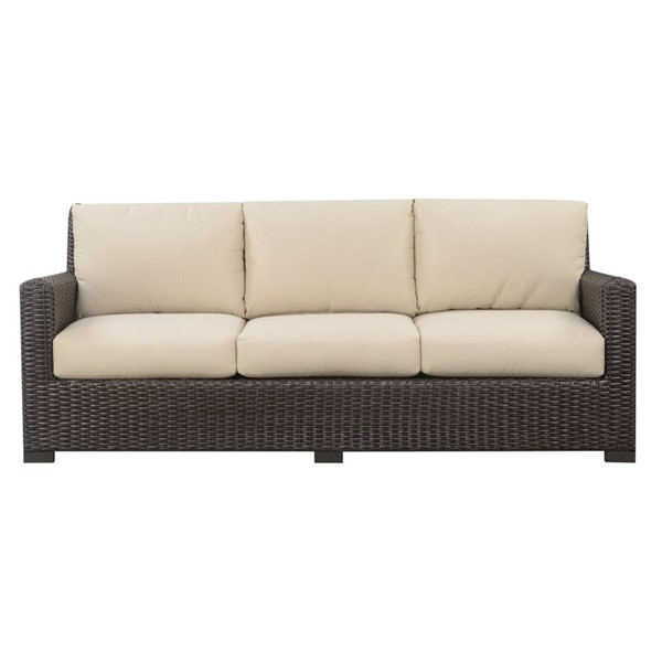 Emerald Home Metro II Spectrum Sand Bark Brown Outdoor Sofa EMR-OU1066-00-09