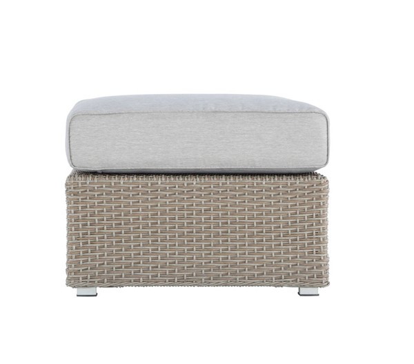 Emerald Home Reims Gray Square Outdoor Ottoman EMR-OU1207-03-09