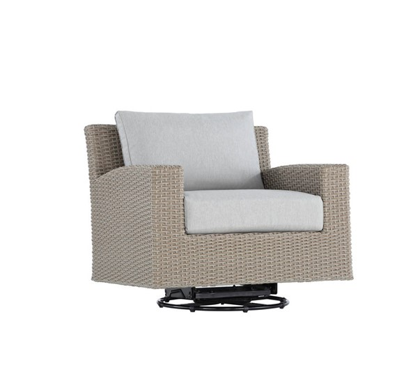 Emerald Home Reims Gray Outdoor Swivel Glider Lounge Chair EMR-OU1207-06-09