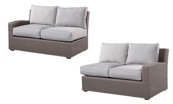 Emerald Home Reims Gray Outdoor LAF And RAF Loveseats EMR-OU1207-11-12-09