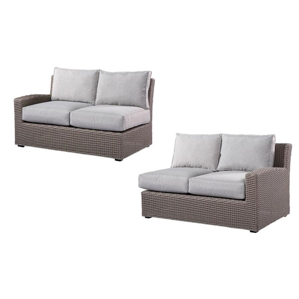 Emerald Home Reims Brick Gray Outdoor Modular Loveseat EMR-OU1207C-11-12-09