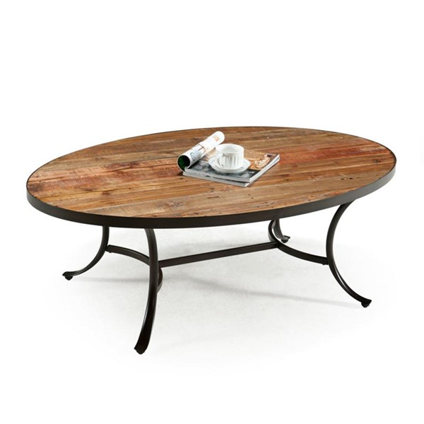 Emerald Home Berkeley Wood Oval Coffee Table EMR-T140-0