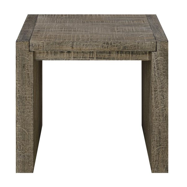 Emerald Home Cubix Tobacco Brown Square End Table EMR-T273-01