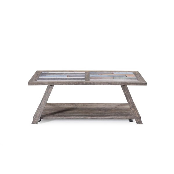 Industrial Grey Driftwood Open Coffee Table: Emerald Home Laurel Lane Driftwood Gray Rectangle Coffee