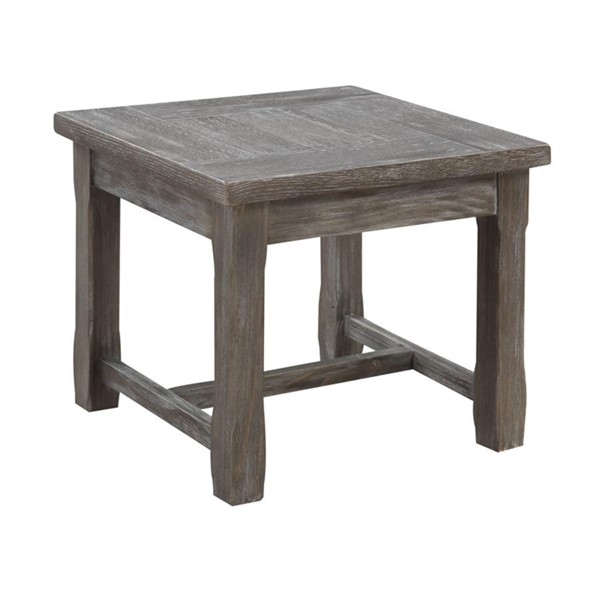 Emerald Home Paladin Charcoal Gray Wood Square End Table EMR-T3501