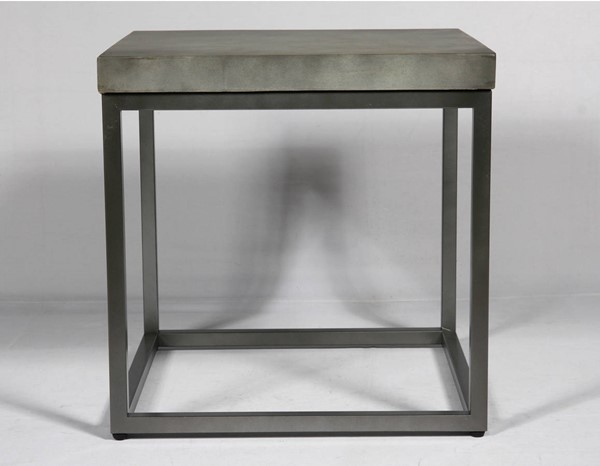 Emerald Home Onyx Aged Concrete End Table EMR-T375-01