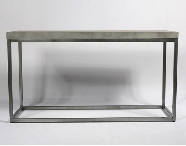 Emerald Home Onyx Aged Concrete Sofa Table EMR-T375-02