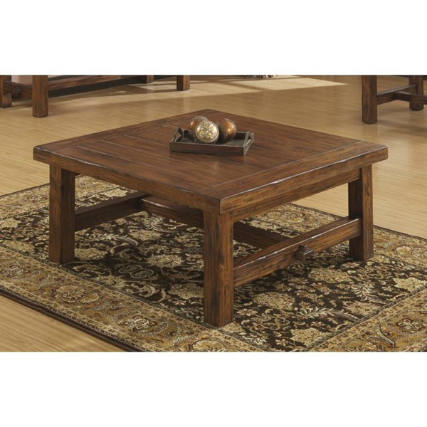 Emerald Home Chambers Creek Brown Square Coffee Table EMR-T4120