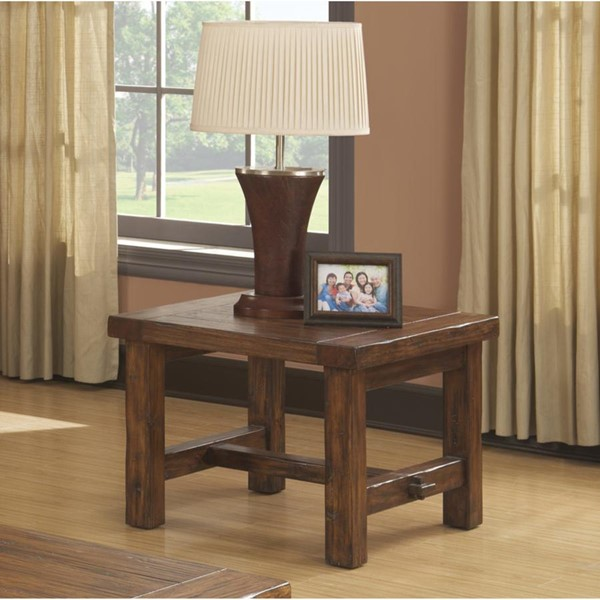 Emerald Home Chambers Creek Brown Square End Table EMR-T4121