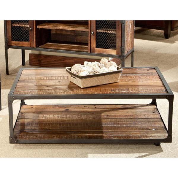 Emerald Home Laramie Brown Wood Rectangle Coffee Table EMR-T4790