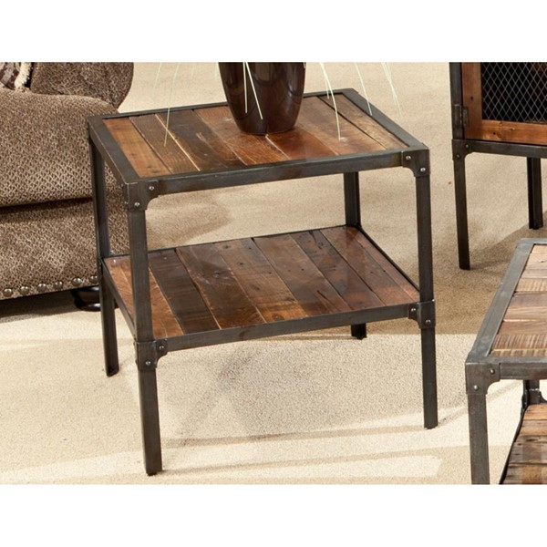 Emerald Home Laramie Brown Wood Rectangle End Table EMR-T4791
