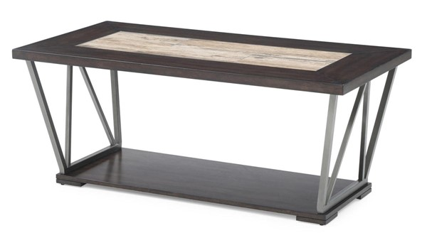 Emerald Home North Bay Brown Gray MDF Rectangle Coffee Table EMR-T526-00
