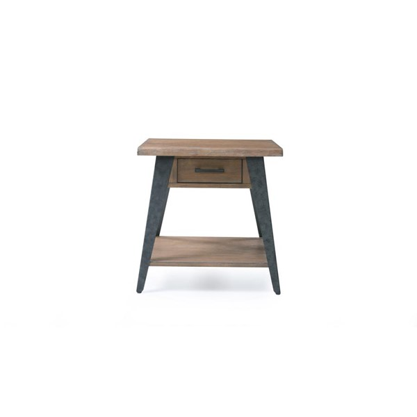 Emerald Home Harpers Mill Tan Wood Square End Table EMR-T611-01