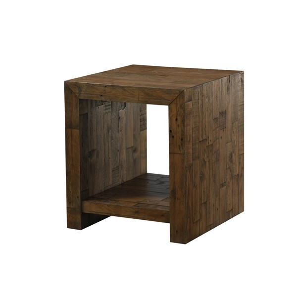 Emerald Home Pine Valley Burnished Pine Rectangle End Table EMR-T744-01
