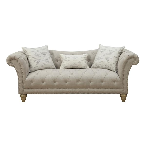 Emerald Home Hutton II Off White Fabric Sofa EMR-U3164-00-09