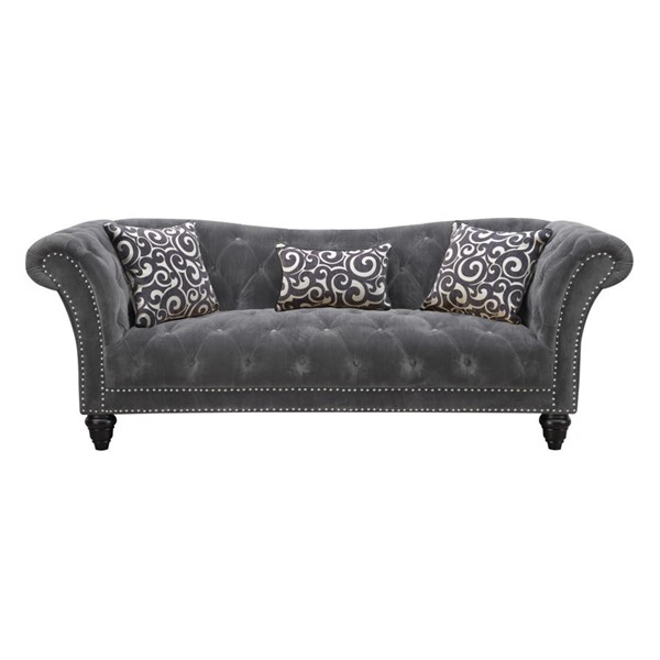 Emerald Home Hutton II Gray Fabric Sofa EMR-U3164-00-13