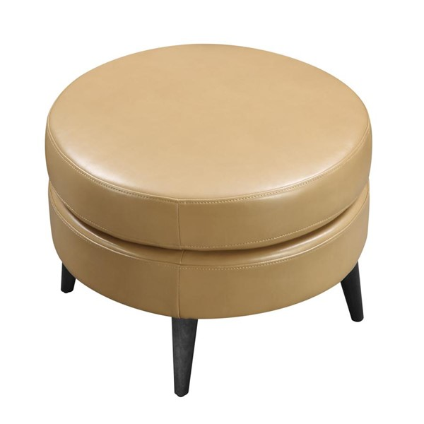 Emerald Home Oscar Saddle Fabric Round Ottoman EMR-U3218-03-05