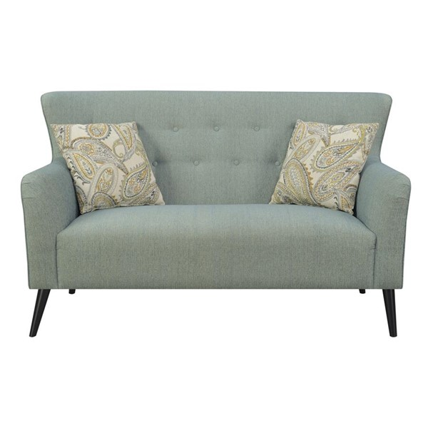 Emerald Home Milly Steel Blue Fabric Traditional Settee EMR-U3275-01-04