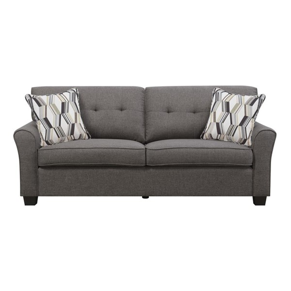 Emerald Home Clarkson Espresso Fabric Sofa EMR-U3470-00-05