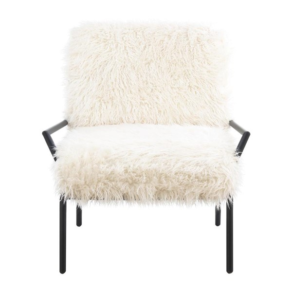Emerald Home Royal Off White Black Metal Accent Chair EMR-U3518-05-09