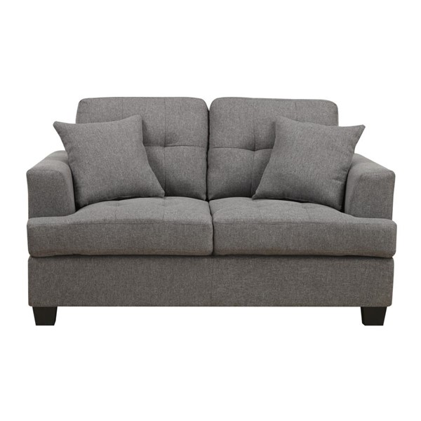 Emerald Home Clearview Gray Fabric Loveseat EMR-U3610A-01-13