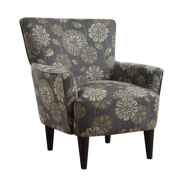 Emerald Home Flower Power Cascade Pewter Fabric Accent Chair EMR-U3655-05-19