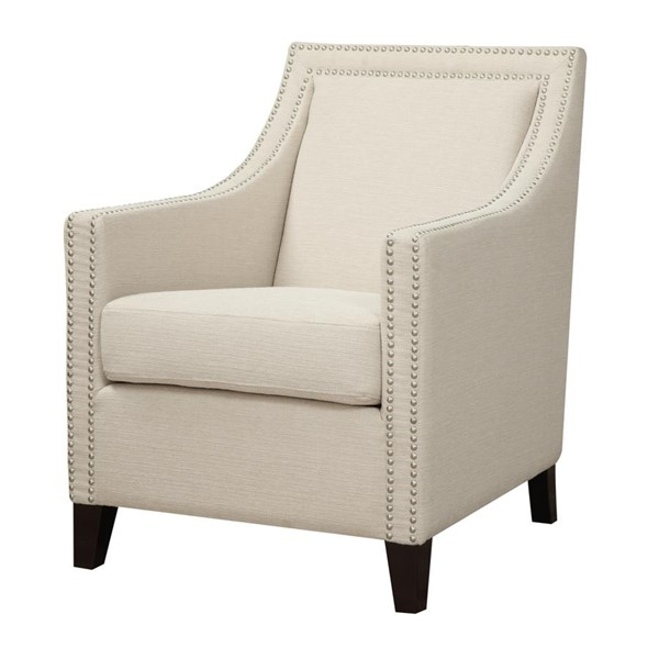 Emerald Home Janelle Beige Fabric Nailhead Accent Chair EMR-U3671-05-09