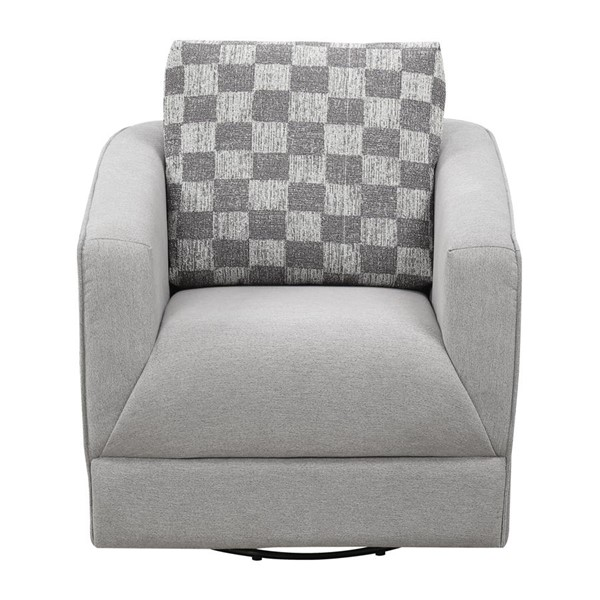 Emerald Home Adler Pewter Charcoal Fabric Accent Chair EMR-U4132-04-03