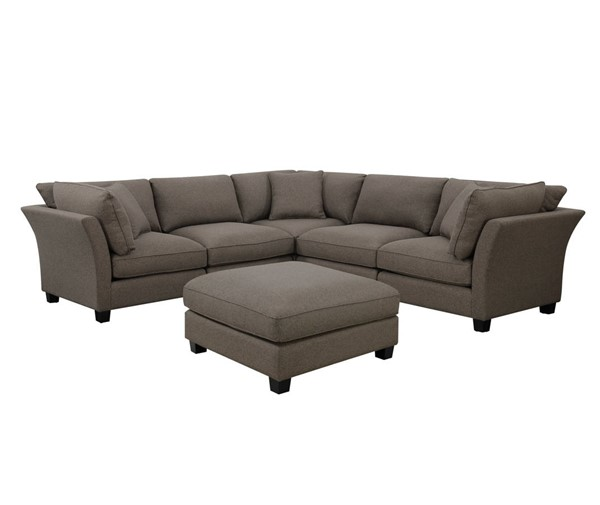 Emerald Home Arlington Brown Modular Sectional With Ottoman EMR-U4172-05-6PCS-K