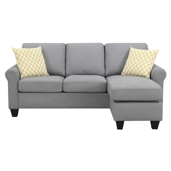 Emerald Home Claudette Gray Reversible Sectional EMR-U4200-09-03