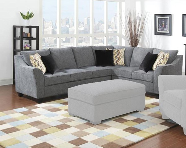 Emerald Home Calvina Gray Fabric Sectional EMR-U4242-03-11-12-K