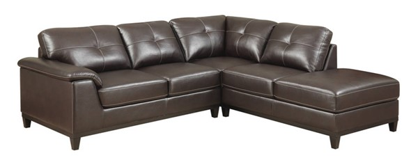 Emerald Home Marquis Walnut Sectional EMR-U4289M-12-31-15-K
