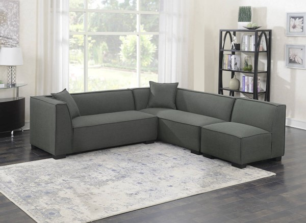 Emerald Home Lonnie Gray Modular Sectional EMR-U4331-03-3PCSET-K
