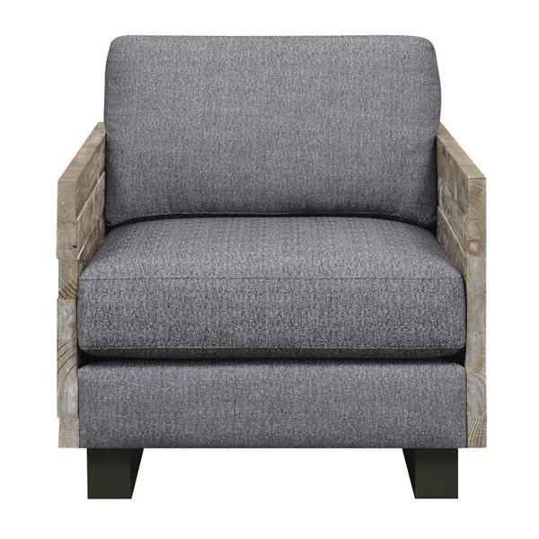 Emerald Home Interlude Charcoal Gray Fabric Accent Chair EMR-U5600-02-03