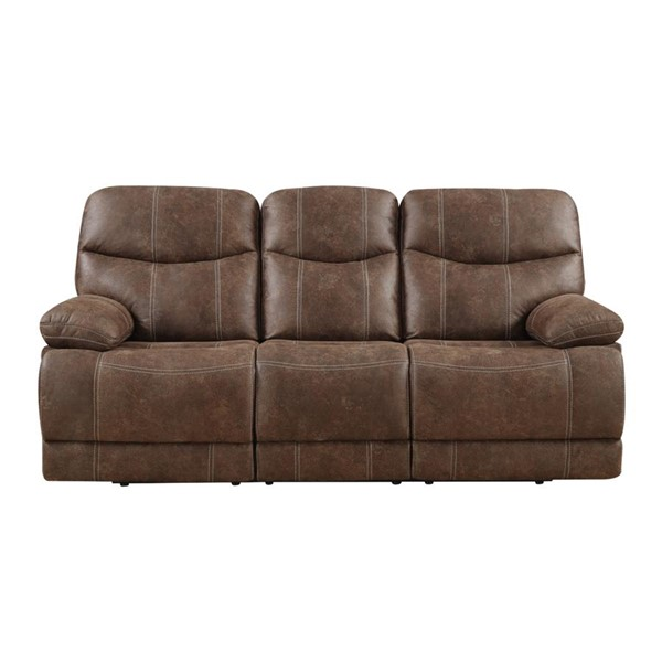 Emerald Home Earl Brown Fabric Reclining Sofa EMR-U7128-00-15
