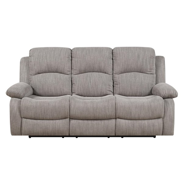 Emerald Home Hennessy Textured Wheat Fabric Reclining Sofa EMR-U7151-00-03