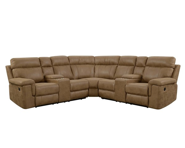 Emerald Home Braydon Saddle Modular Power Reclining Sectional EMR-U8051-27-13-28-05-K