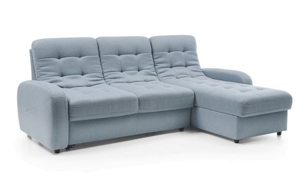 ESF Galla Poland Blue Fabric Bloom Sectional with Bed and Storage ESF-i23003