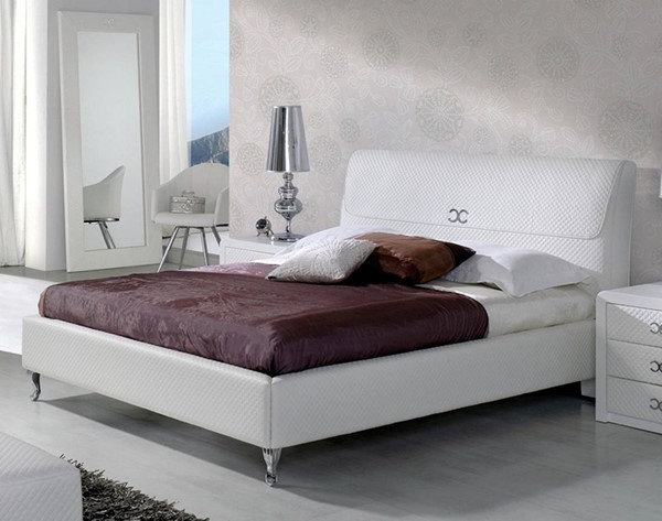 ESF Dupen Spain Emily White Queen Bed with Slats Frame ESF-i17505